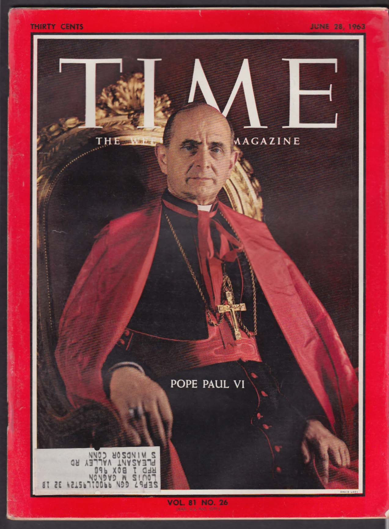 TIME Pope Paul VI Martin Luther King Khrushchev Cosmonauts + 6/28 1963