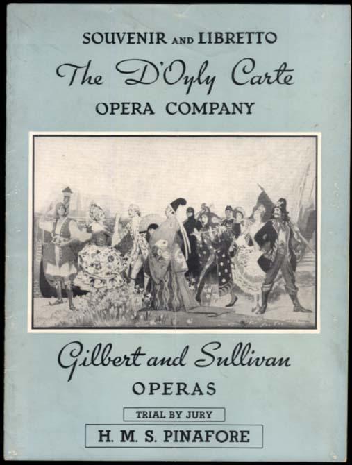 D'Oyly Carte Opera Company Gilbert & Sullivan souvenir program & libretto 1950