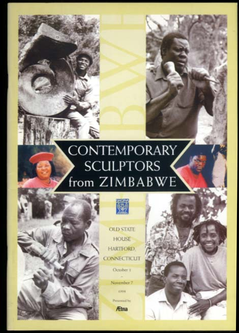 Contemporary Sculptors from Zimbabwe art exhibition catalog 1998 Hartford CT
