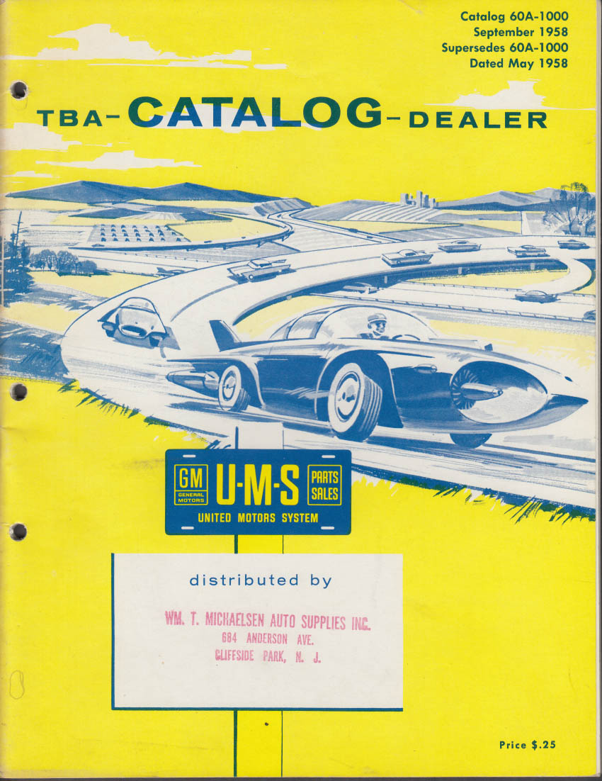 United Motors System GM Parts Catalog #60-A 9 1958 Delco Packard Rochester