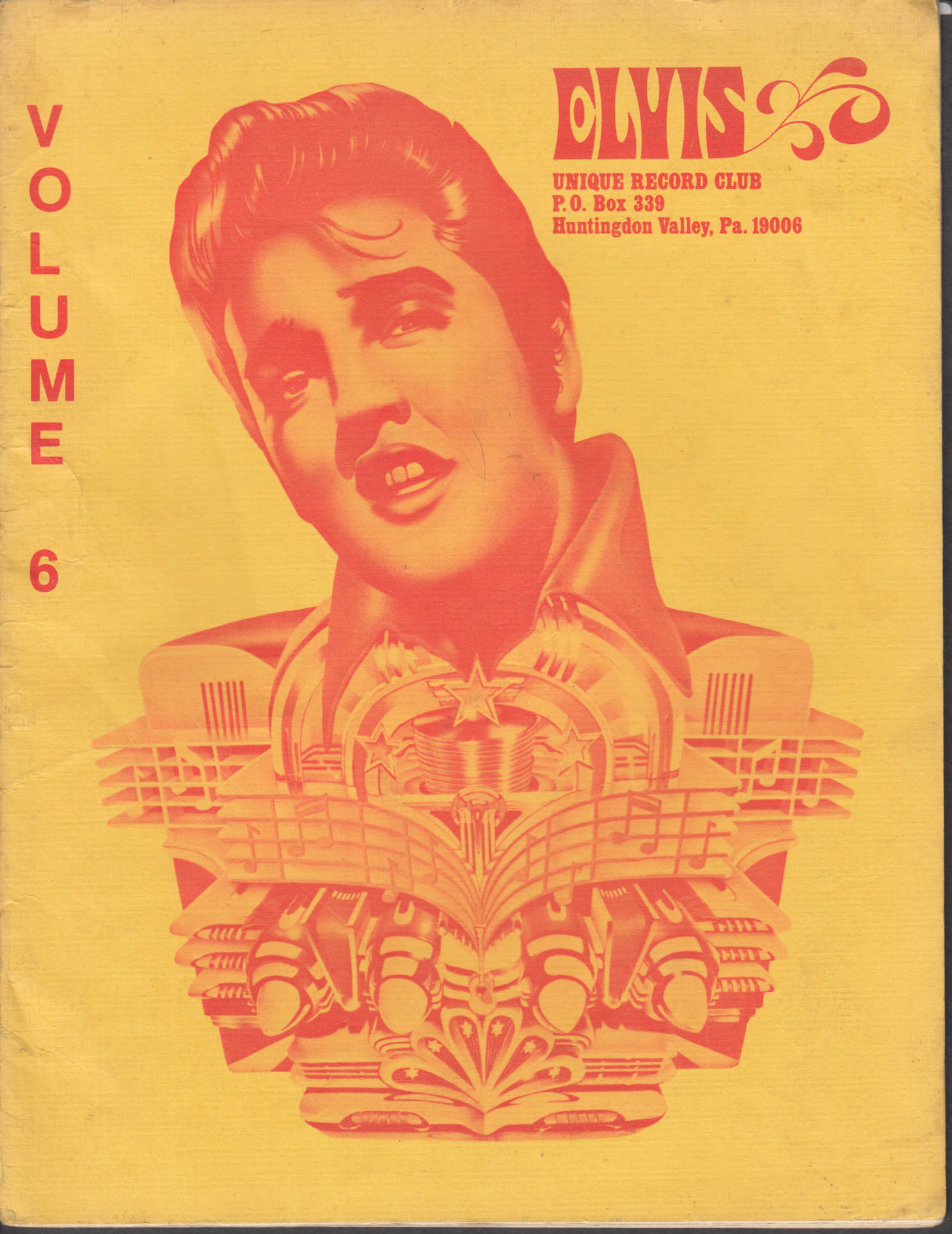 ELVIS UNIQUE RECORD CLUB V6 1977 Huntington Valley PA