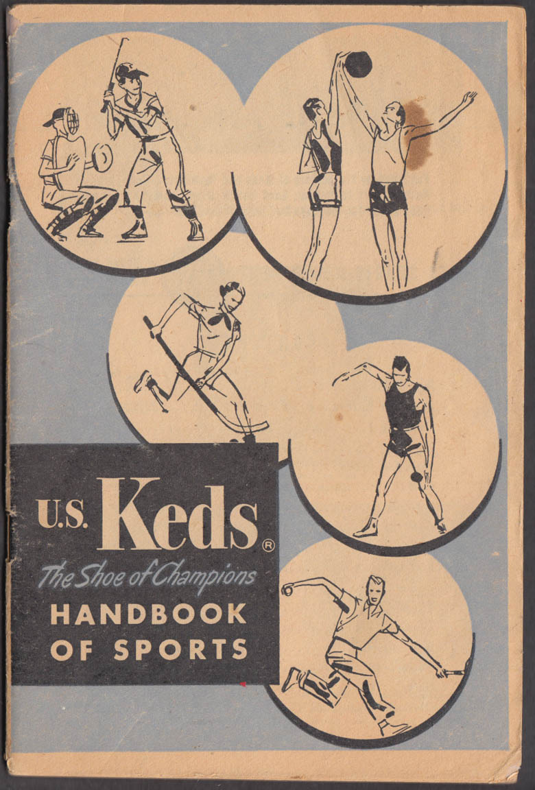 US Keds Shoe of Champions Handbook of Sport 1953 Leahy Chadwick Frisch Mikan