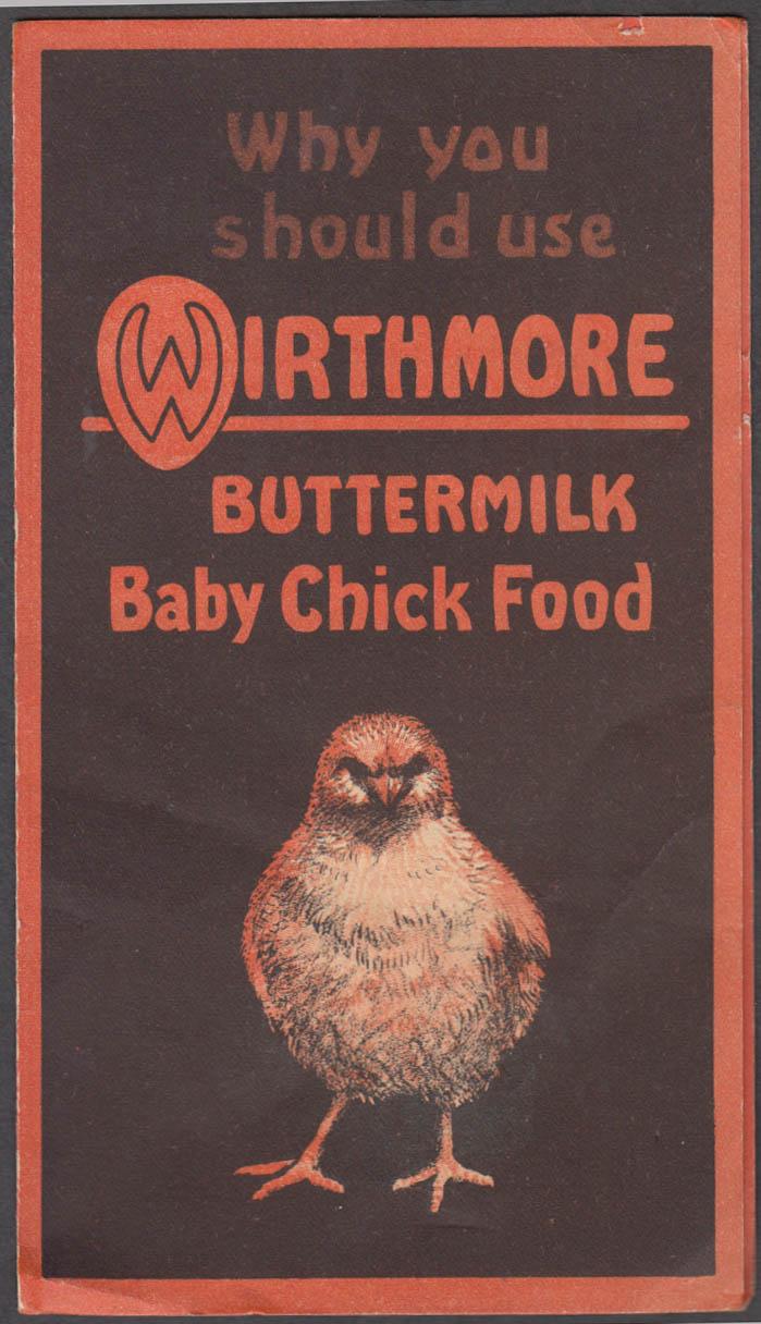 Wirthmore Buttermilk Baby Chick Food folder 1950s