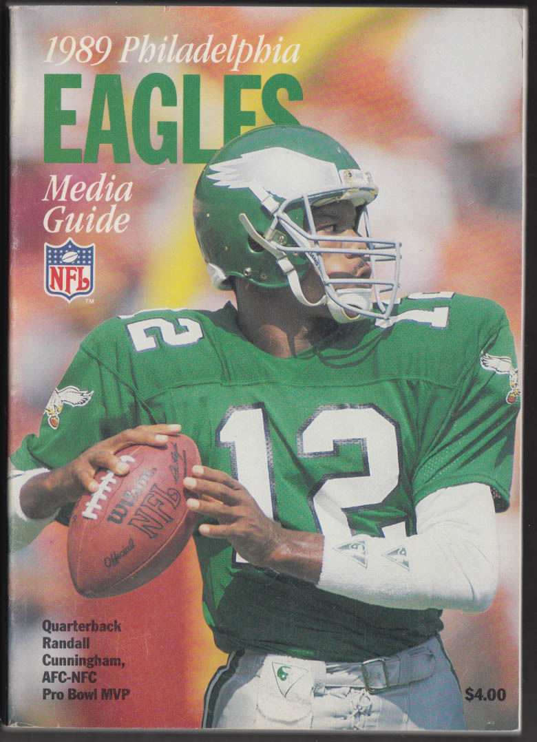 1989 Philadelphia Eagles Media Guide Randall Cunningham