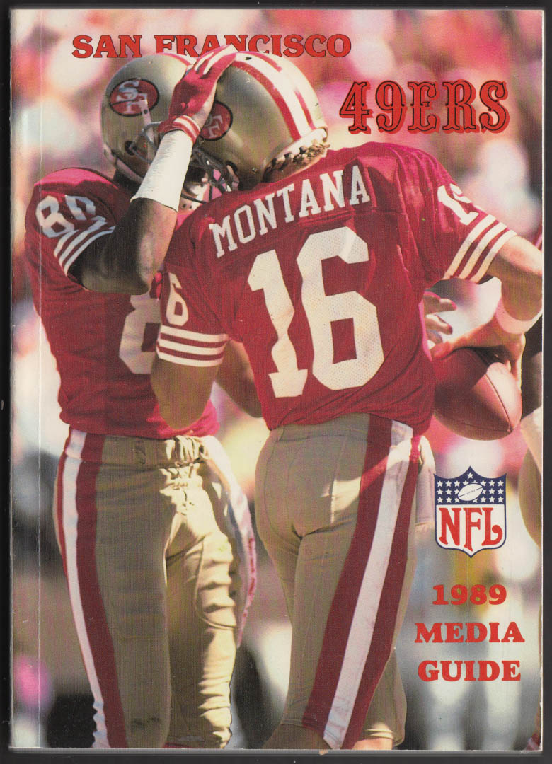 1989 San Francisco 49ers Media Guide Joe Montana Jerry Rice