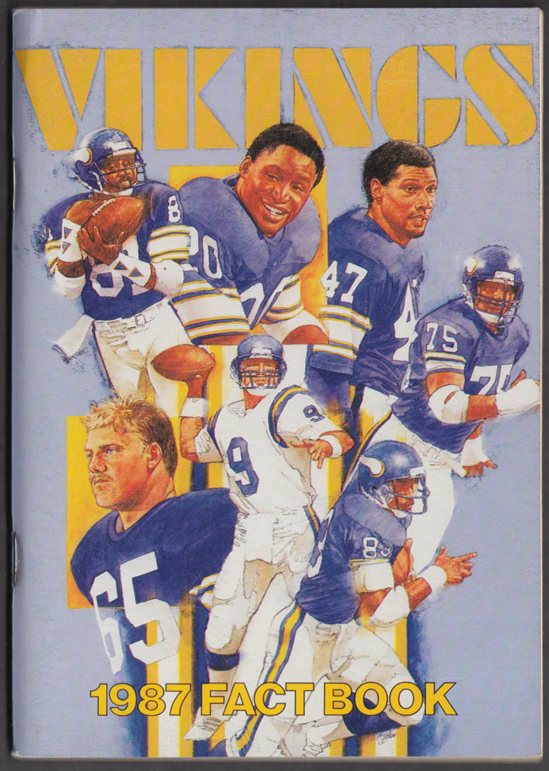 1987 Minnesota Vikings Fact Book Media Guide