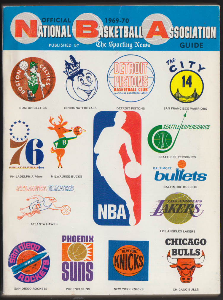 1969-1970 NBA National Basketball Association Media Guide