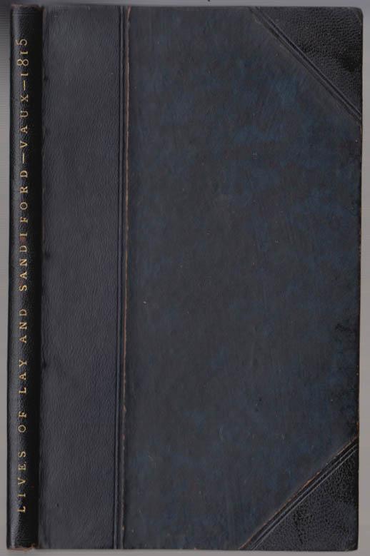 Image for Roberts Vaux: Benjamin Lay & Ralph Sandiford Emancipation Advocates 1815 1st ed