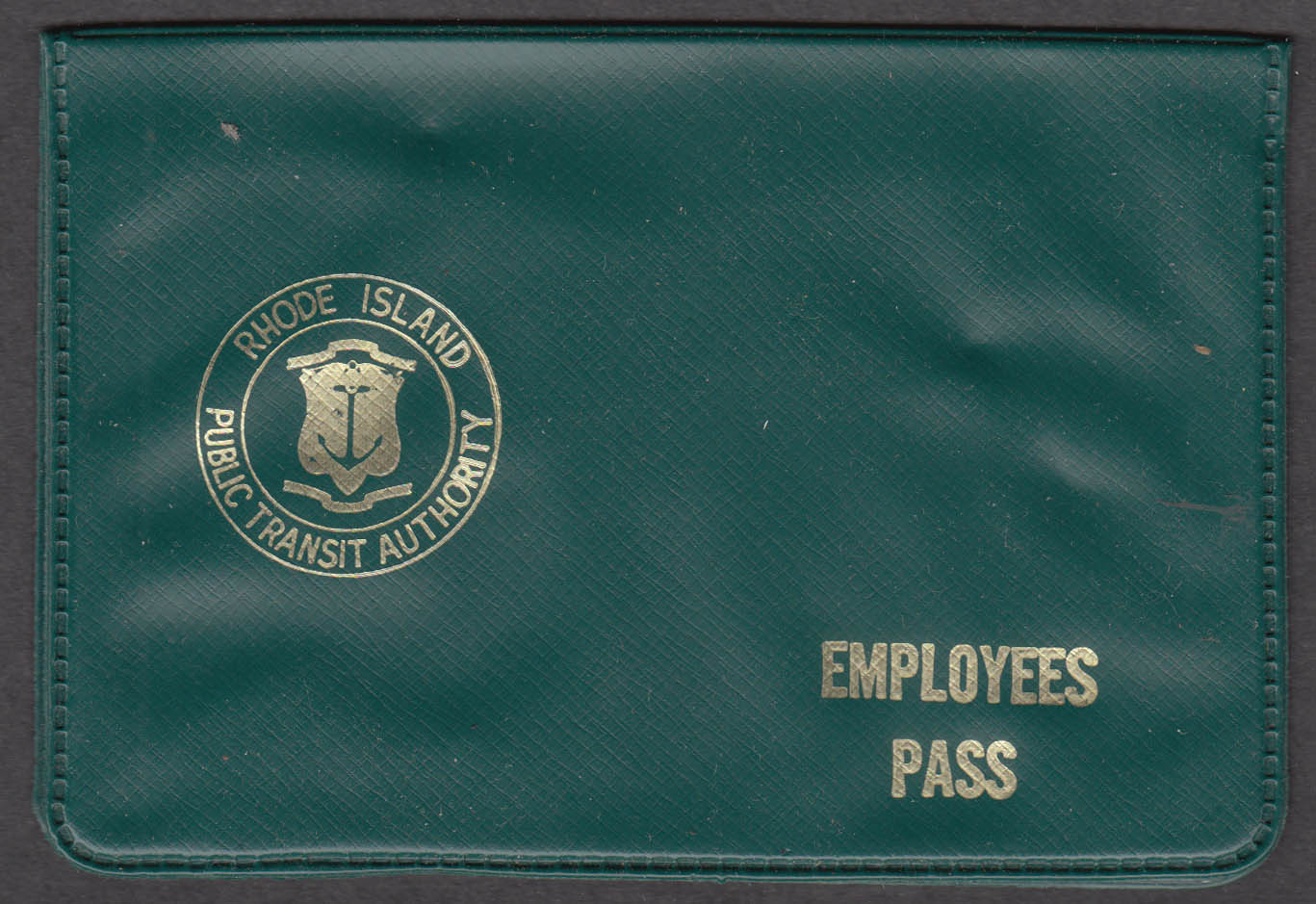 Rhode Island Public Transit Authority Employees Pass vinyl holder