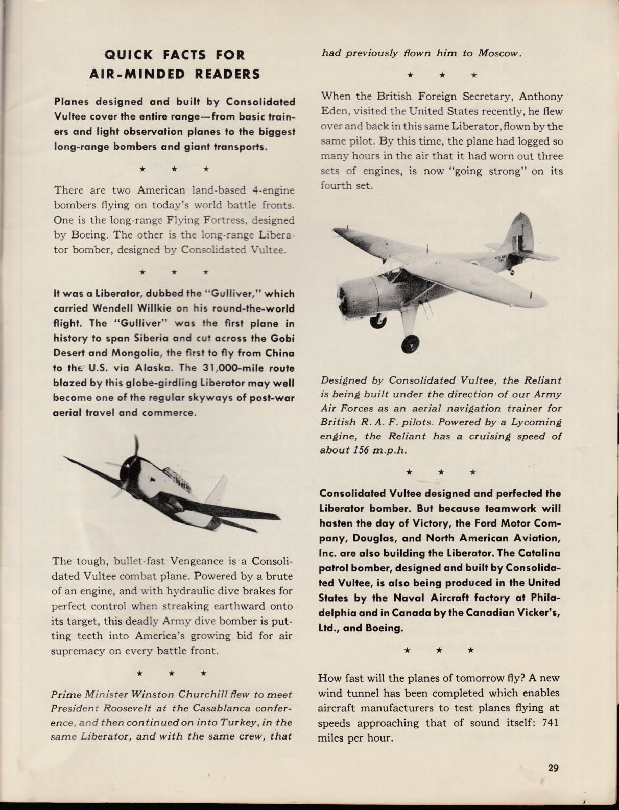 Consolidated Vultee Aircraft Maps & How to Understand Them