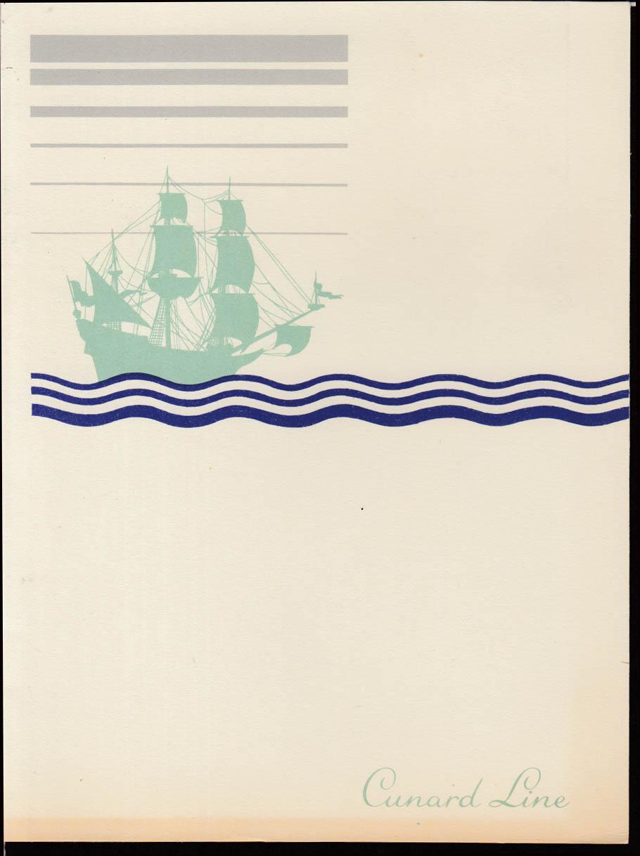 Cunard White Star R M S Queen Elizabeth Tourist Class Dinner Menu 6/25 1951