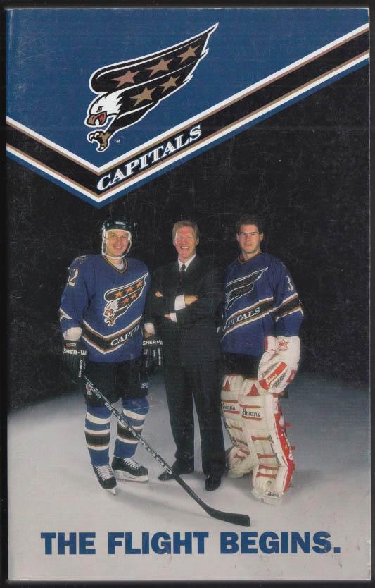 Washington Capitals NHL Hockey Media Guide 1995-1996