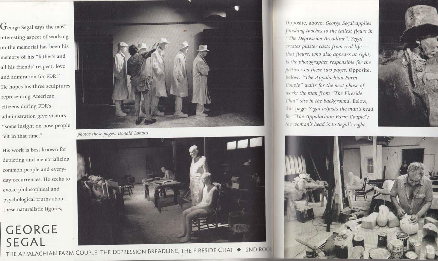 FDR Memorial Commemorative Book 1997 Leonard Baskin George Segal ++