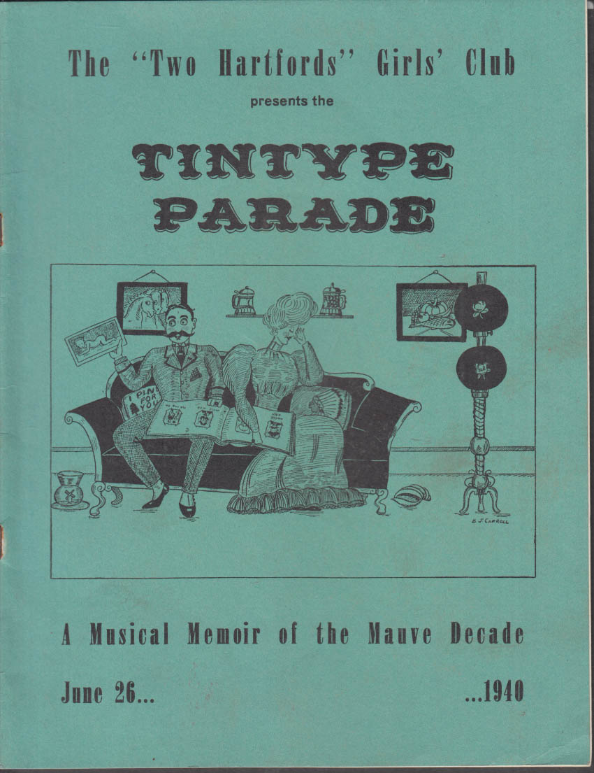 Two Hartfords Girls Club Tintype Parade Musical Theatre program 1940 Ford ad