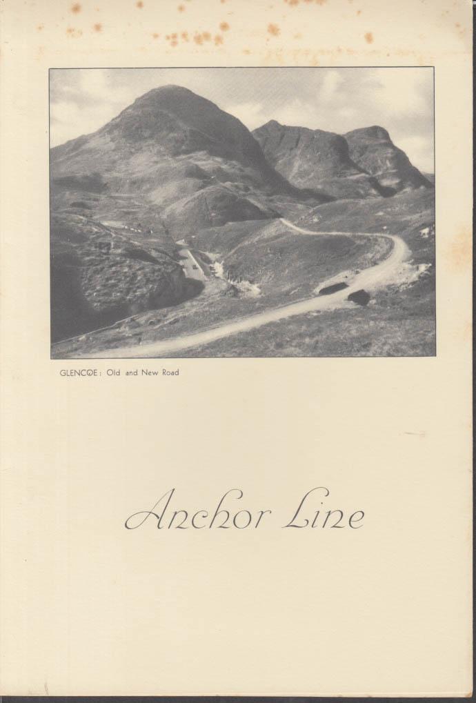Anchor Line T S S Transylvania Luncheon Menu 3/20 1938