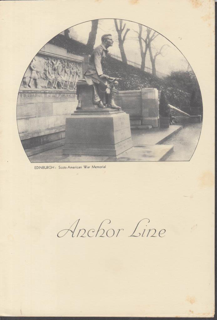 Anchor Line T S S Transylvania Dinner Menu 3/21 1938