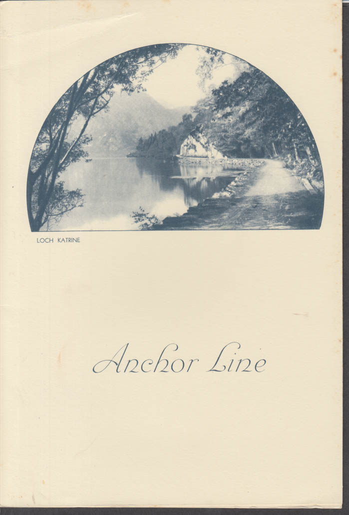 Anchor Line T S S Transylvania Luncheon Menu 3/13 1938