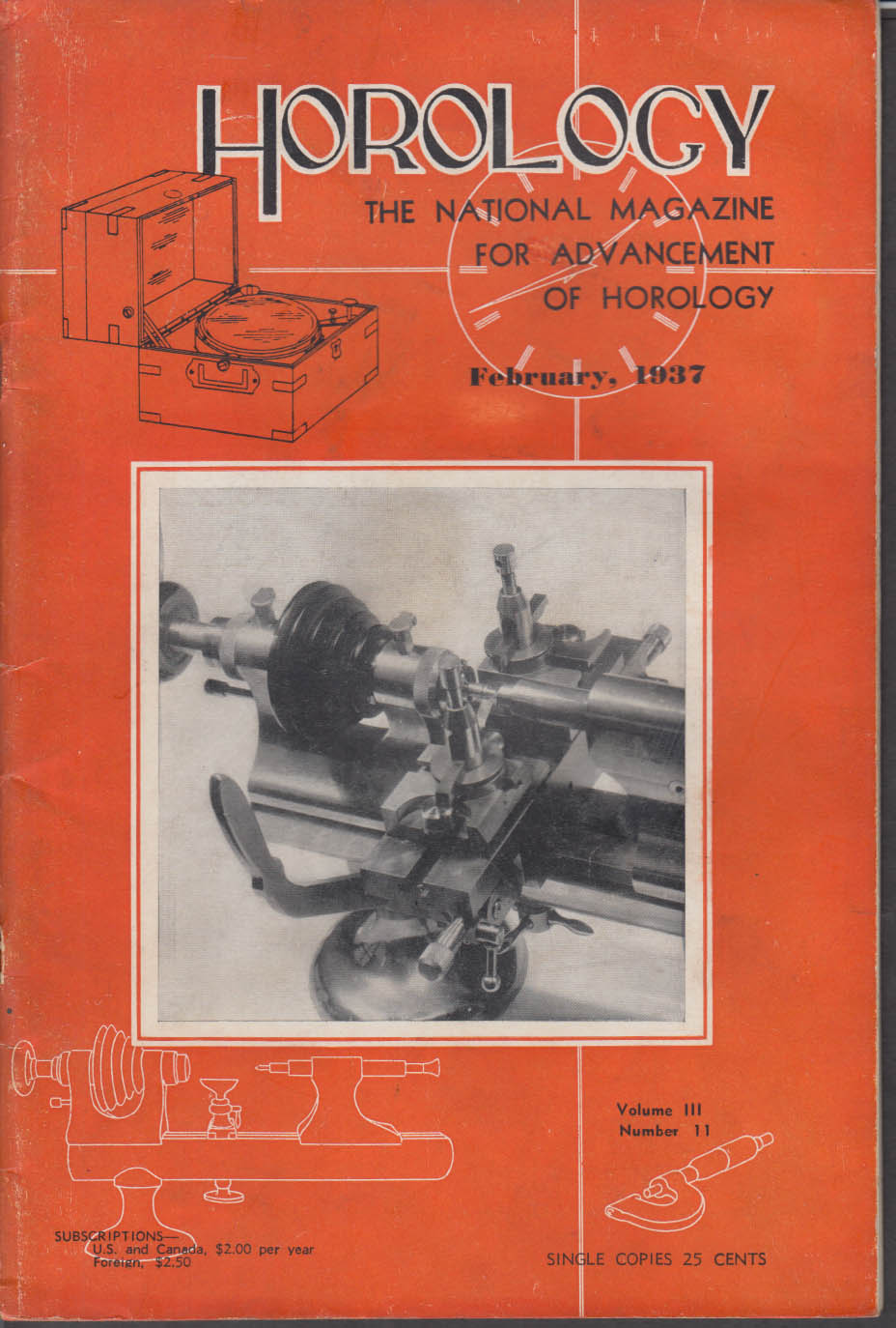 HOROLOGY 2 1937 Early American Clocks; escapements; etc.
