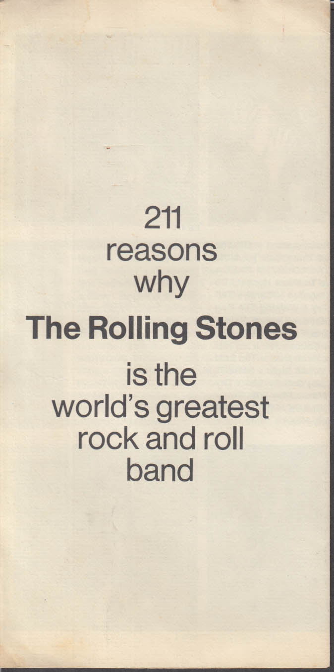 211 Reasons Why The Rolling Stones greatest rock & roll band London Records 1971