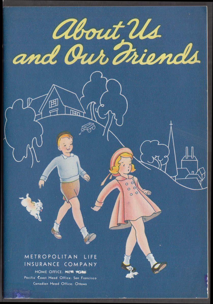 About Us and Our Friends beginning reader Metropolitan Life Insurance 1953