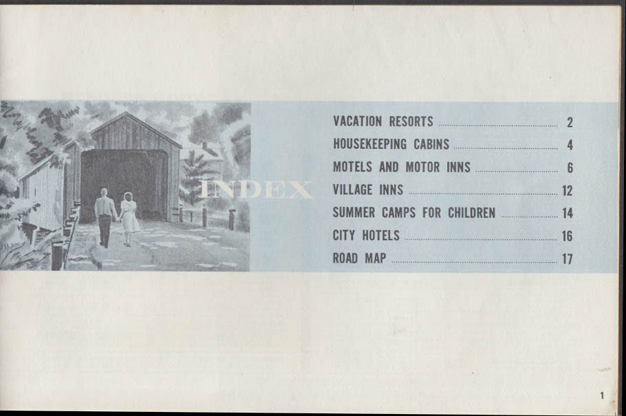 Connecticut Vacation Guide 1964-5 cabins motels inns summer camps resorts
