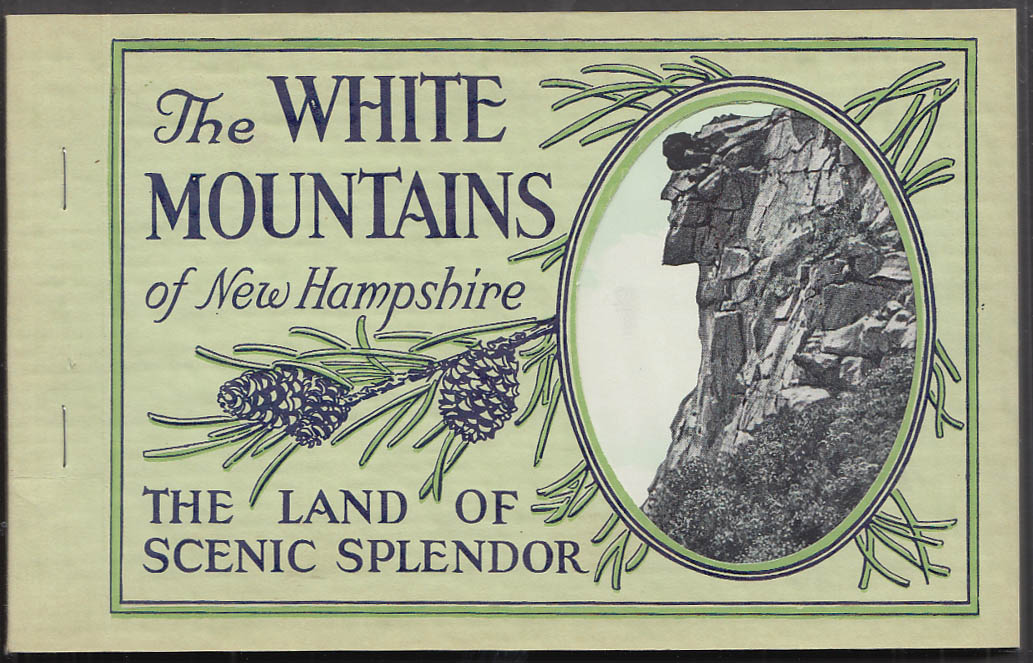 The White Mountains of NH: Land of Scenic Splendor view book 1920s