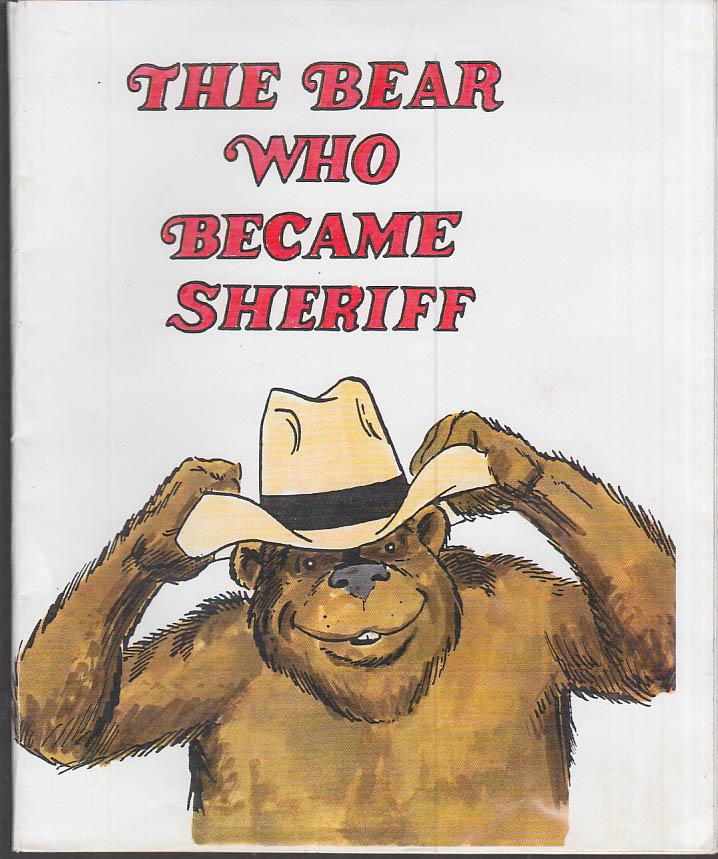 Cartoonist Frank Bolle ORIGINAL The Bear Who Became Sheriff dummy 1990s