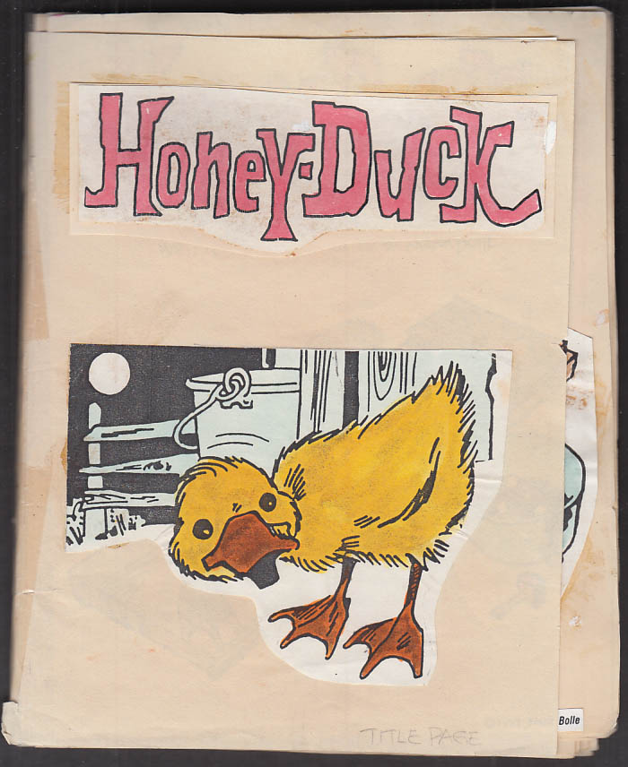 Cartoonist Frank Bolle ORIGINAL Honey-Duck children's book dummy 1993