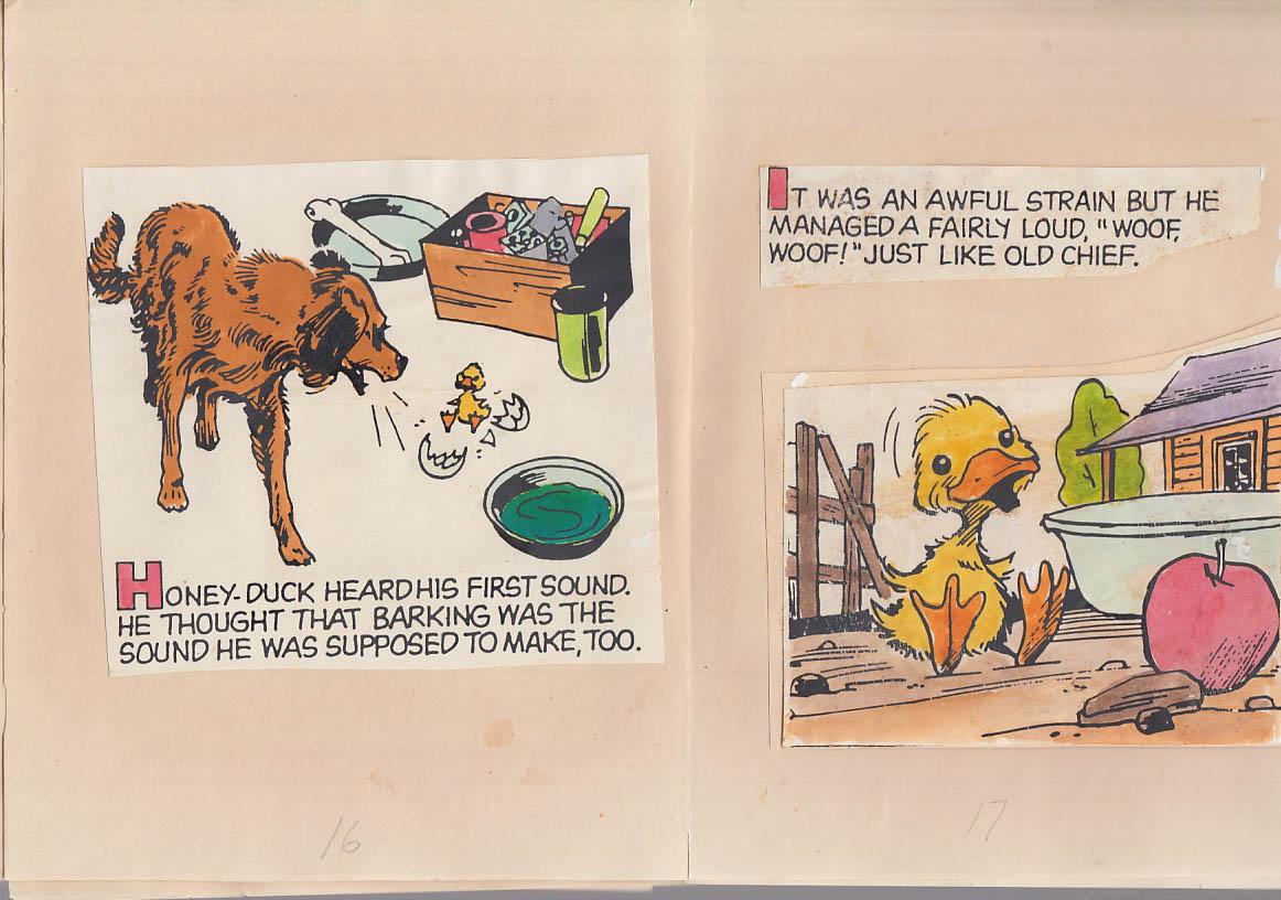 Image for Cartoonist Frank Bolle ORIGINAL Honey-Duck children's book dummy 1993