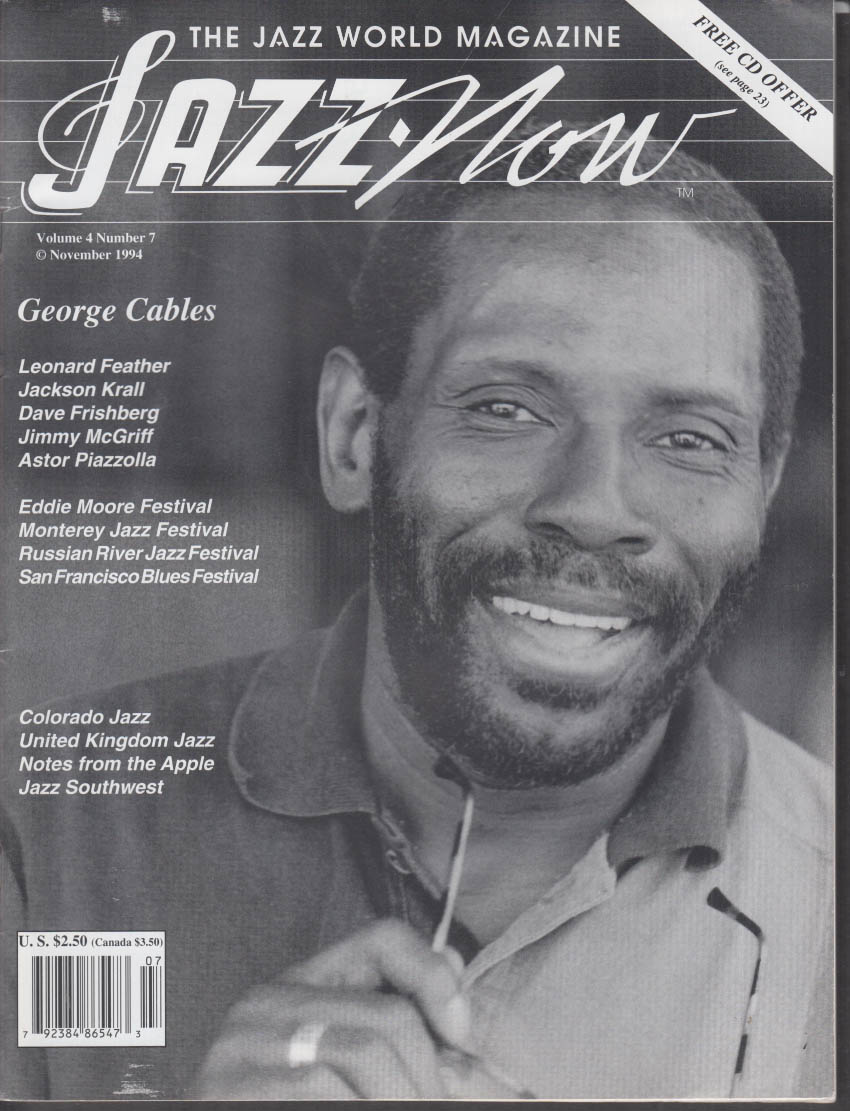JAZZ NOW George Cables McGriff Piazzolla Leonard Feather 11 1994