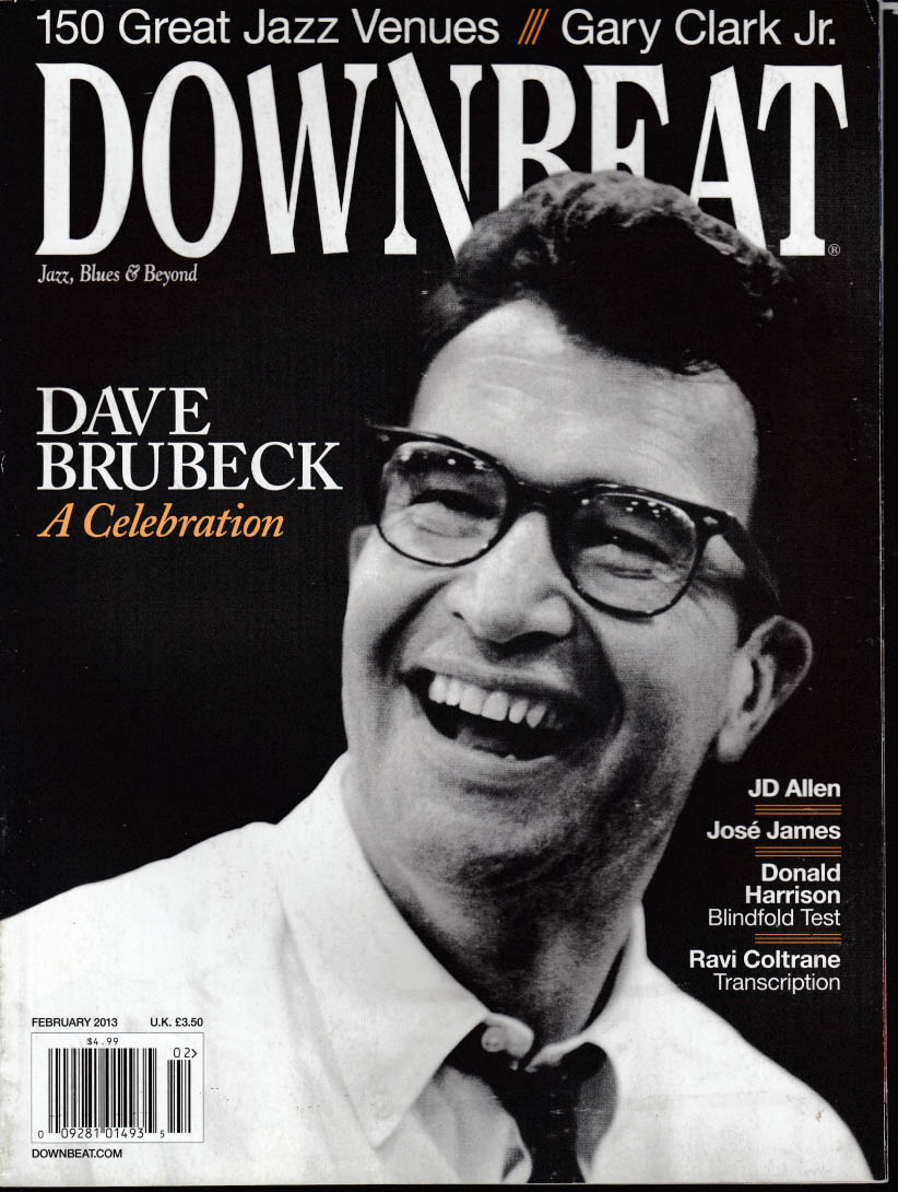 DOWN BEAT Dave Brubeck Gary Clark Jr JD Allen Jose James Ravi Coltrane 2 2013