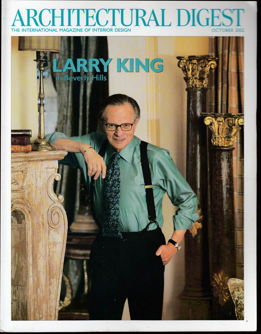 ARCHITECTURAL DIGEST Larry King; Andre Emmerich; Robert Duvall 10 2002