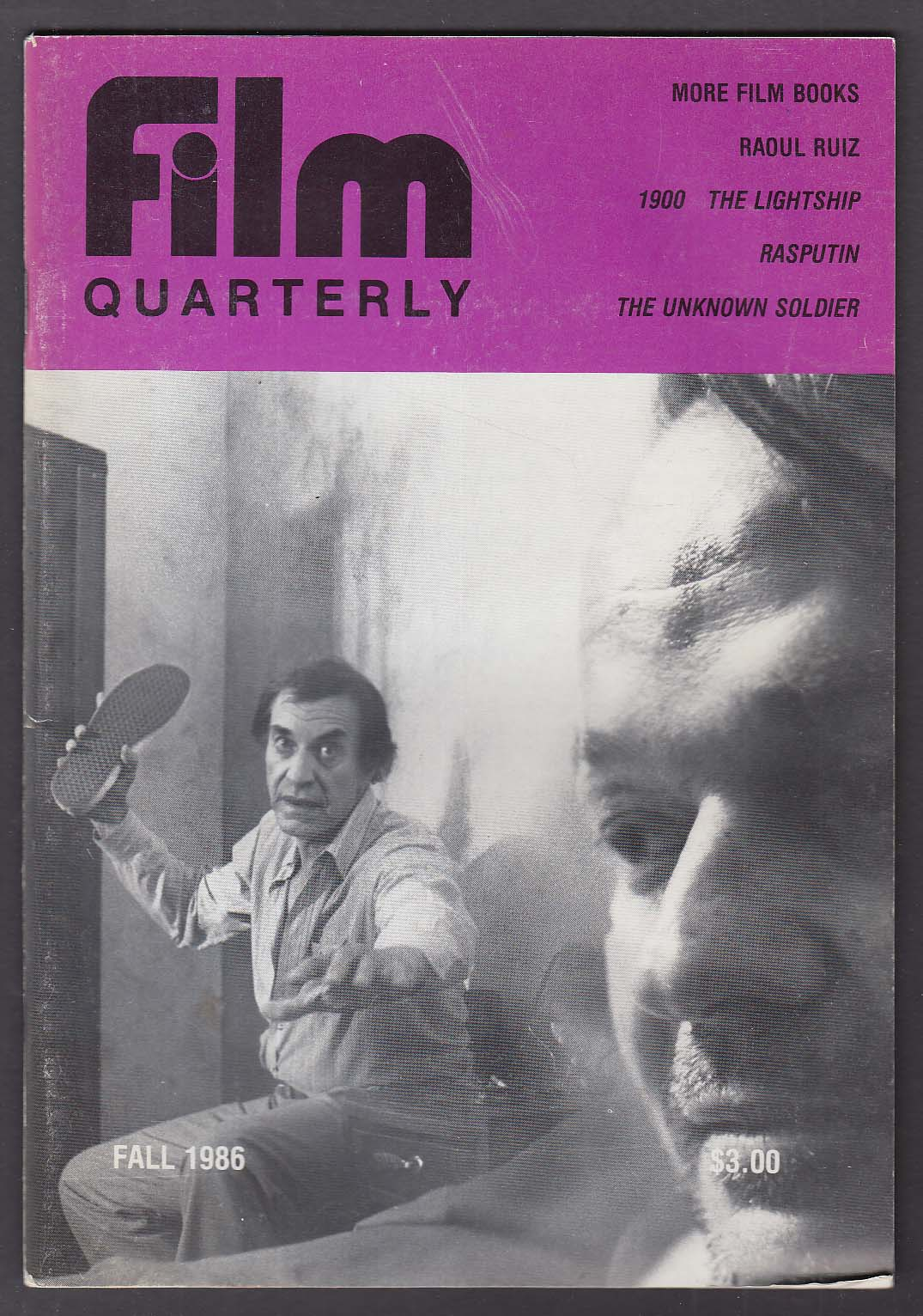 FILM QUARTERLY Raoul Ruiz Bertolucci Lightship Rasputin ++ Fall 1986