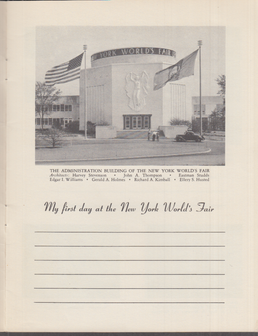 My Diary of The New York World's Fair 1939 Hotel Chesterfield