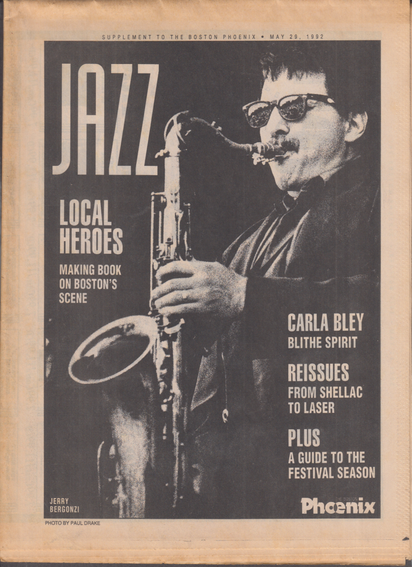 Boston PHOENIX JAZZ supplement 5/28 1992 Carla Bley; new reissues