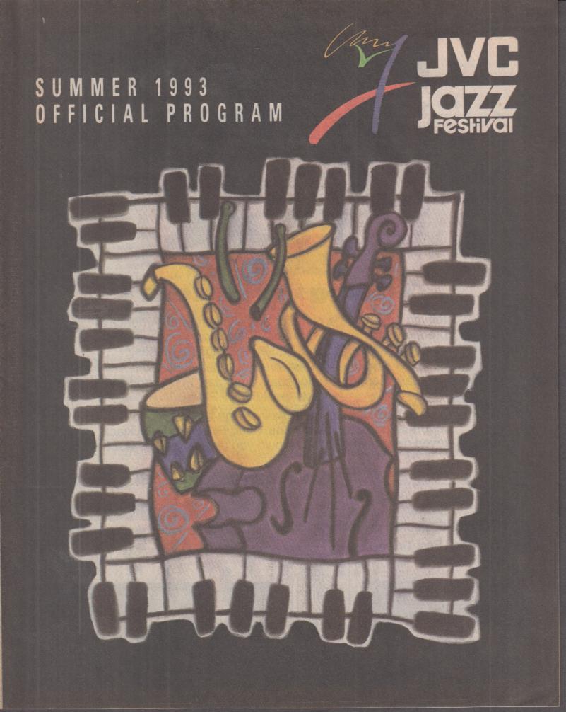JVC Newport Jazz Festival Official Program 1993 Basie Clooney Charles Puente +