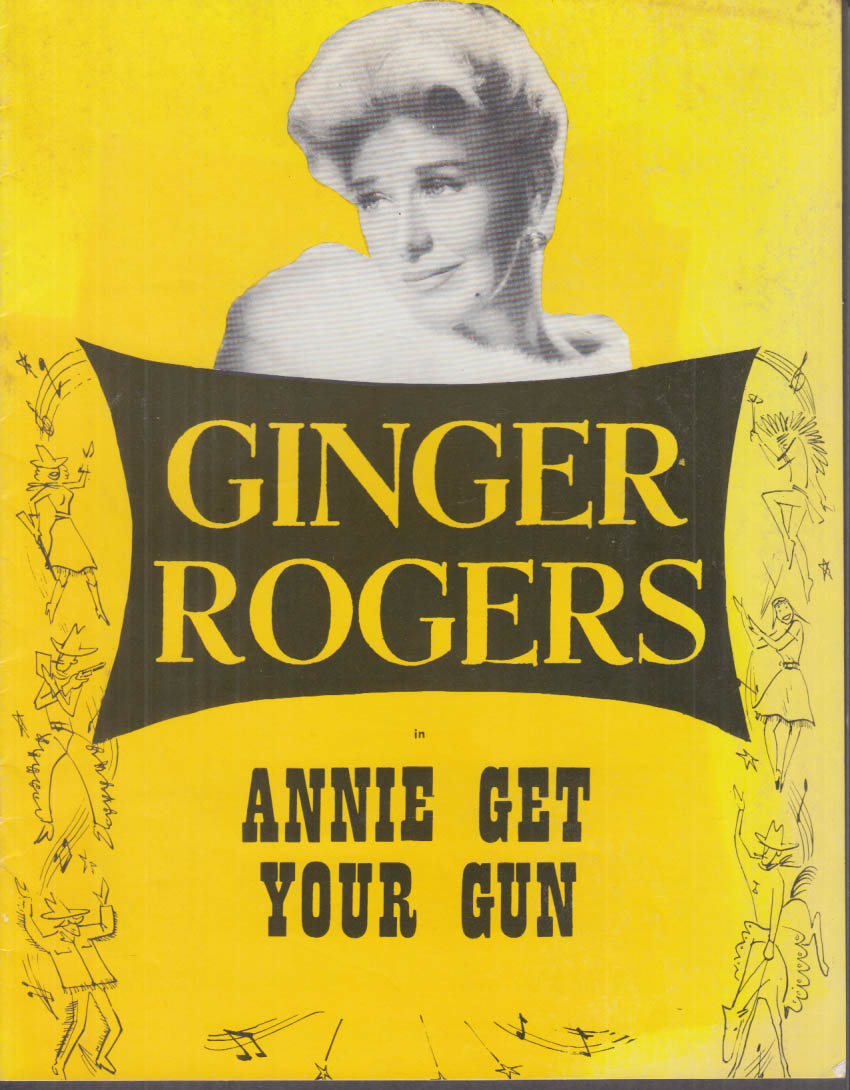 Ginger Rogers in Annie Get Your Gun souvenir program ca 1950s