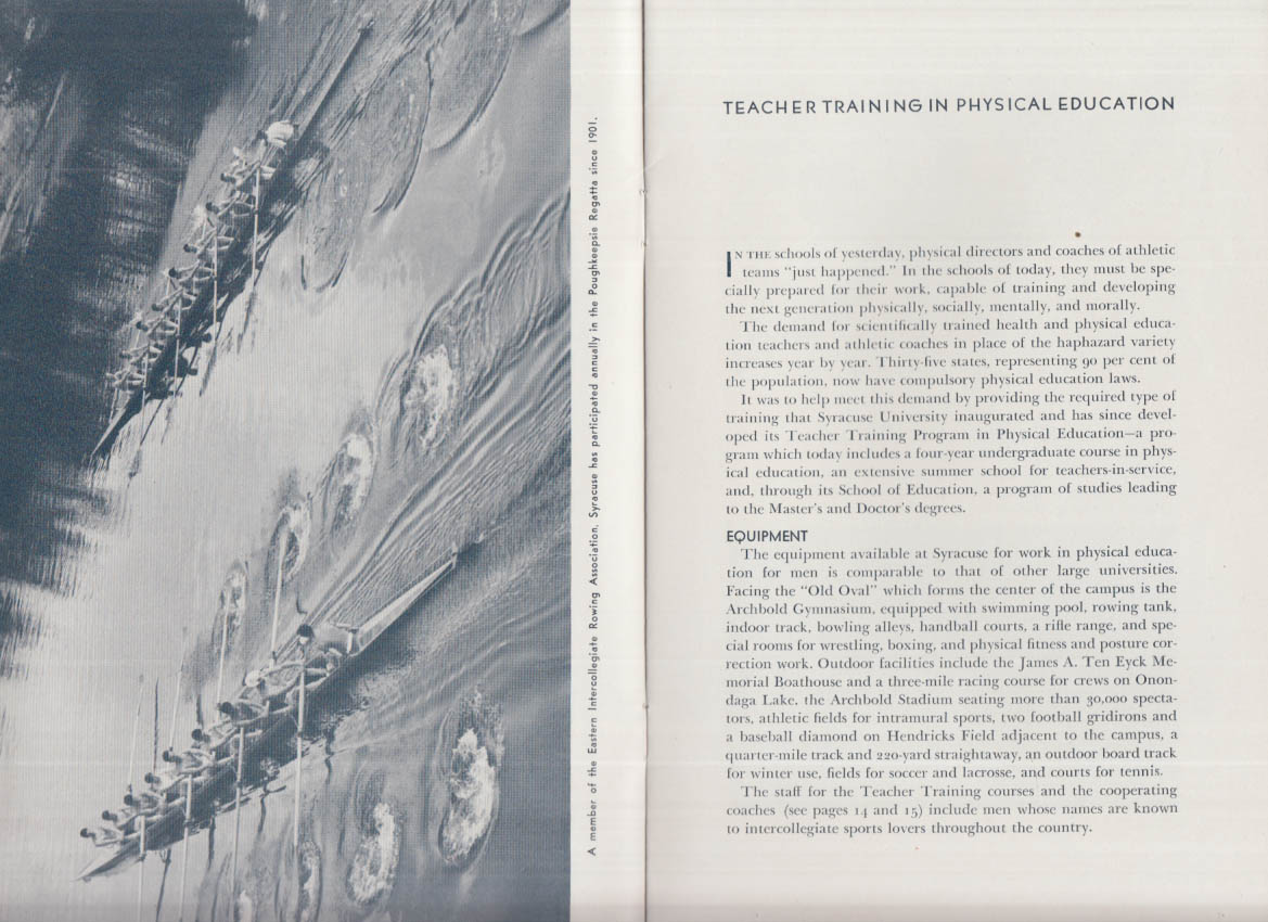 Syracuse University Teacher Training in Physical Education Prospectus 1940s