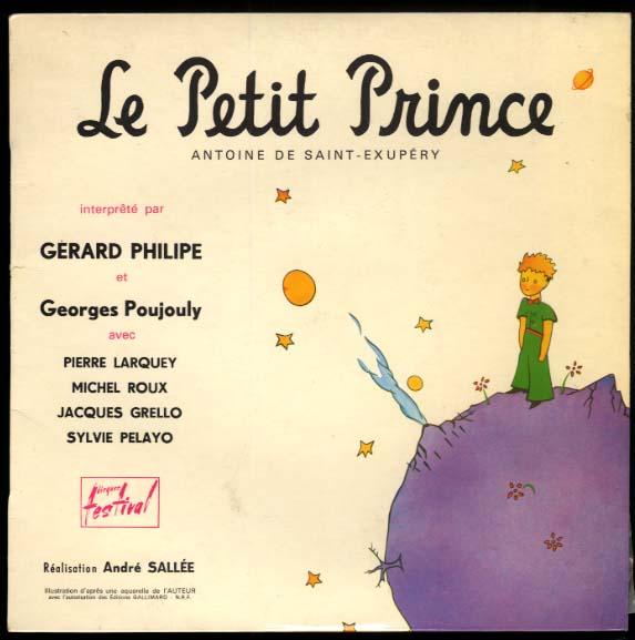 Antoine de Saint-Exupery: Le Petit Prince 33rpm record album in French
