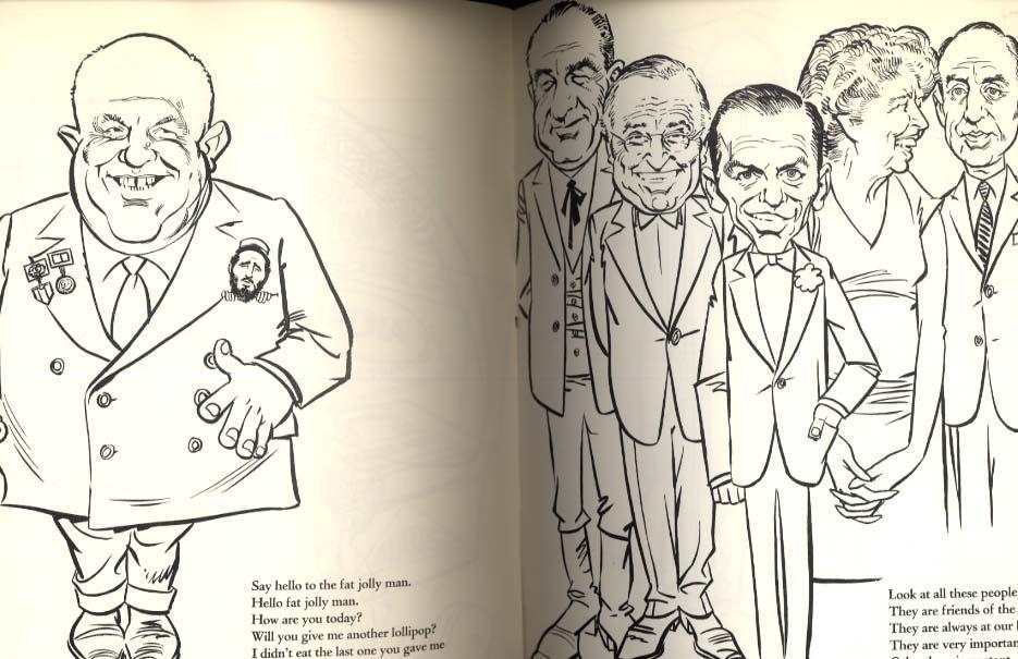 jfk coloring book by mort drucker 1962 john f kennedy jackie rfk et al
