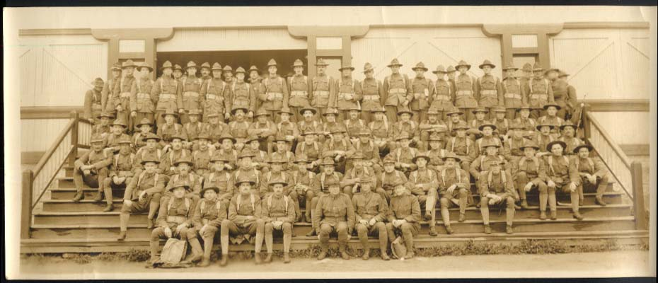 Unidentified company 7th NY Regiment U S Army yardlong 1916