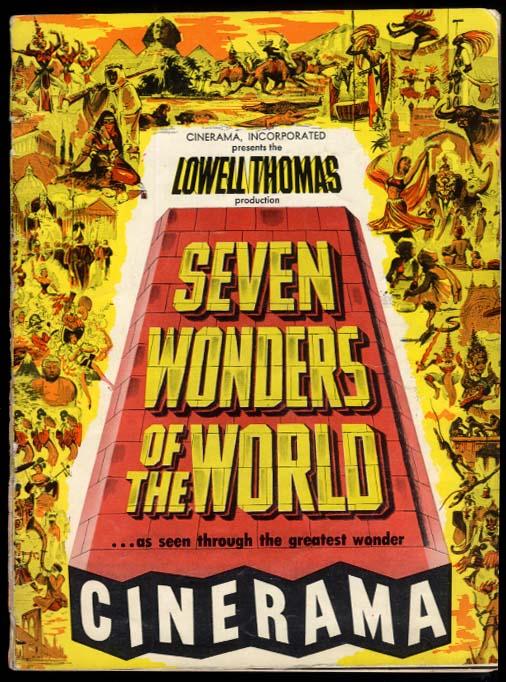 Cinerama program Lowell Thomas Seven Wonders of the World 1956