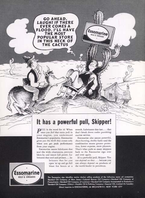 Dr Seuss Essomarine magazine ad Go Ahead, Laugh! 1938