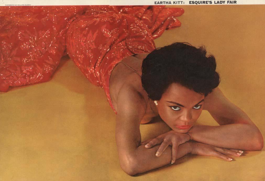 Esquire's Lady Fair Eartha Kitt by Philippe Halsman Esquire foldout pin-up 1955