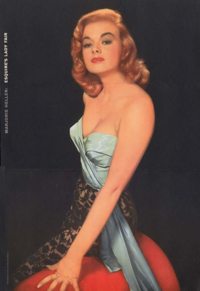 Esquire's Lady Fair Marjoria Hellen Esquire foldout pin-up 1956