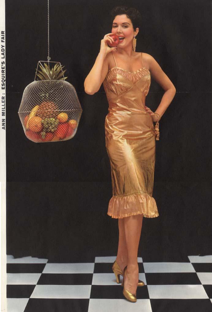 Esquire's Lady Fair Ann Miller Esquire foldout pin-up 1954
