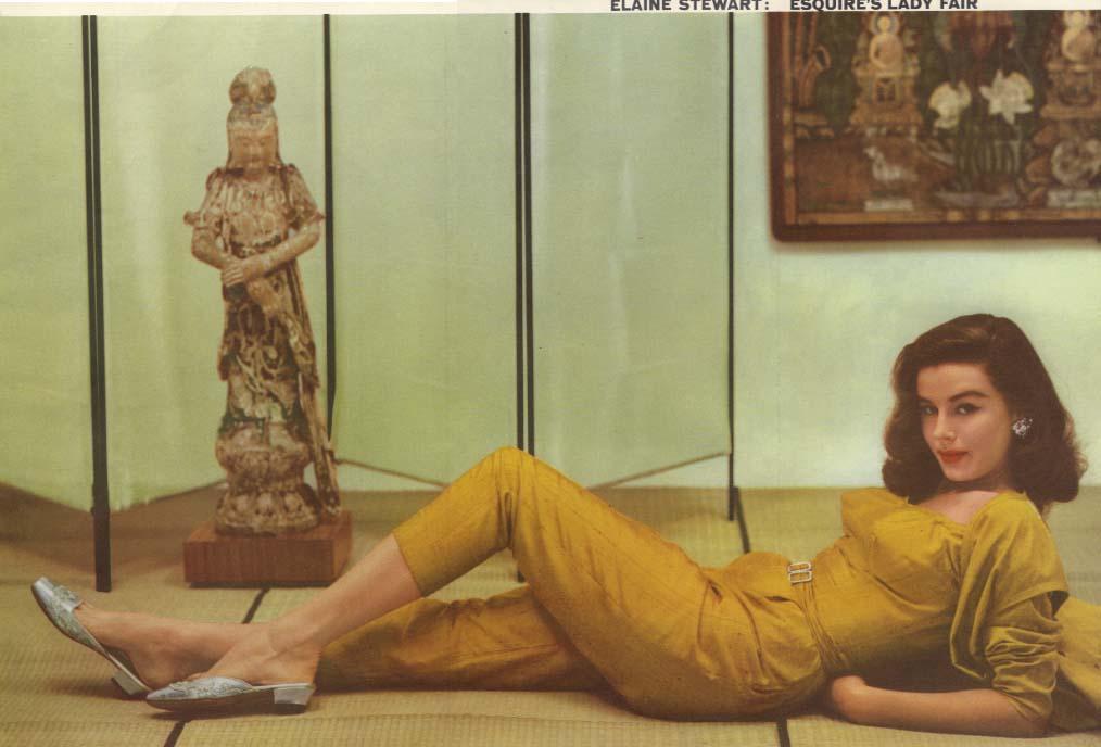 Esquire's Lady Fair Elaine Stewart Esquire foldout pin-up 1954