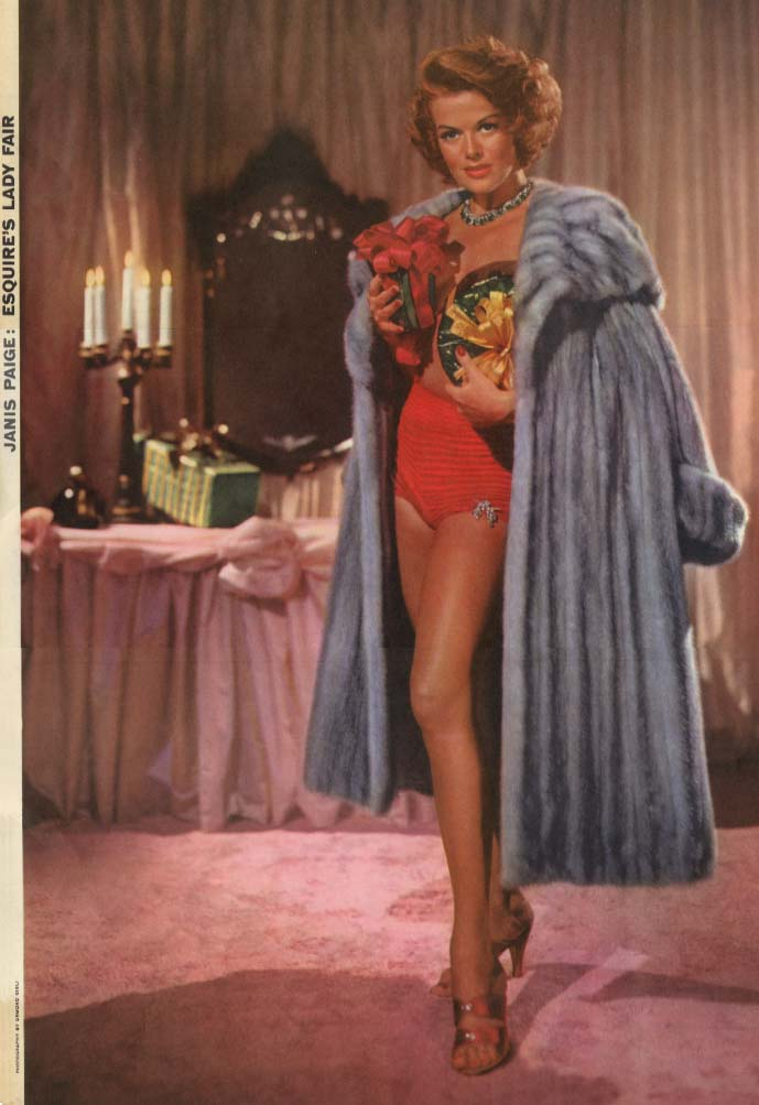 Esquire's Lady Fair Janis Paige by Ormond Gigli Esquire foldout pin-up 1954