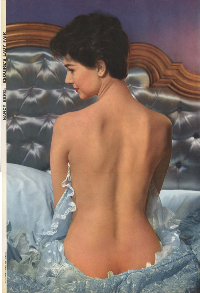 Esquire's Fair Lady Nancy Berg by Philippe Halsman Esquire foldout pin-up 1956