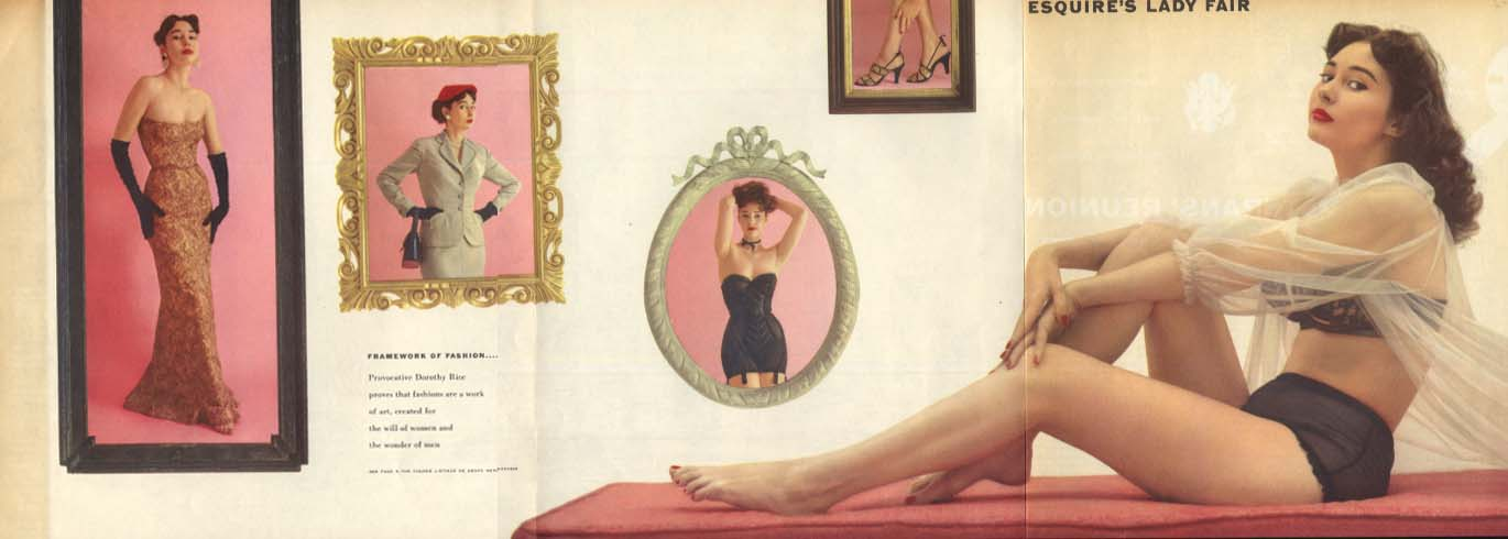 Esquire's Lady Fair Dorothy Rice Esquire foldout pin-up 1953